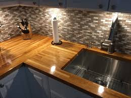 countertops butcher block countertops and backsplash album on