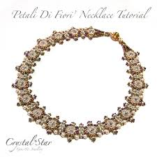 tutorial beading necklace images Petali di fiori necklace tutorial crystal star gems jewellery jpg