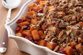 roasted sweet potatoes with cinnamon pecan crunch thanksgiving