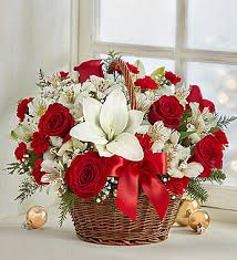 Christmas Basket Fields Of Europe Christmas Basket 1800flowers Com 98924