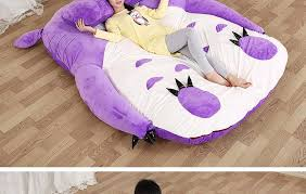 Giant Totoro Bed Cartoon Purple Totoro Bed With Lila Color Single And Double Bed