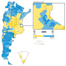 Map Of Election Results by Map Of The Presidential Election Results In Argentina 1300 X 1292
