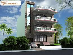 single story house elevation apartments four floor house triplex house design apnaghar four
