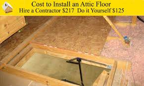 cost to install an attic floor