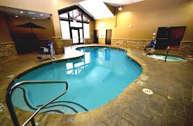 exquisite pool kit with blue inground design for your indoor