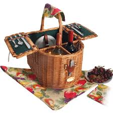 picnic basket set for 2 sutherland doppio vino wine picnic basket for 2 picnic baskets