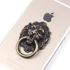 metal lion ring holder images Sunguy mobile phone finger holder bronze lion crystal leopard jpg