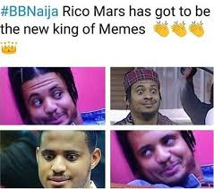 Faces Of Memes - bbnaija 2018 rico swavey is fast becoming the new king of memes