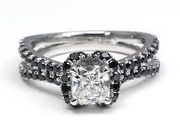 white and black diamond engagement rings black diamond engagement rings from mdc diamonds nyc