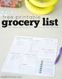 printable household shopping list free printable grocery list and meal planner organization tips