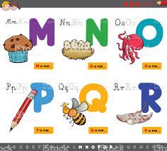 imagenes educativas animadas letras del alfabeto de dibujos animados educativos para niños arte