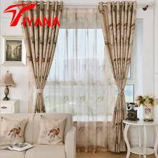 vorhã nge fã r schlafzimmer rustikale kaffee farbe mode vogel design sheer vorhänge für