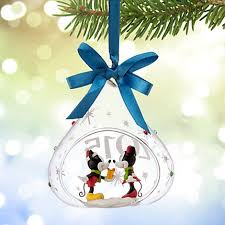 Mickey And Minnie Outdoor Christmas Decor by Amazon Com Disney U0027s Mickey And Minnie Mouse Glass Drop Sketchbook