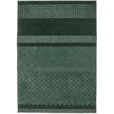 forest green area rug art of knot solid border hand loomed wool