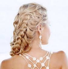 prom hairstyles for long hair to the side elegant side swept curls