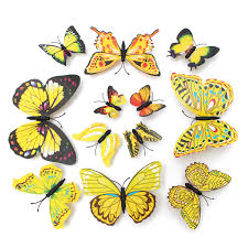 Diy Butterfly Decorations by 12pcs Diy Stylish 3d Butterfly Art Wall Sticker Decals Home Room