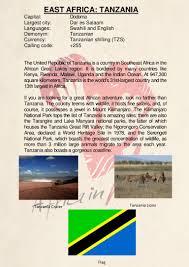 Tanzanian Flag Country Description Tanzania