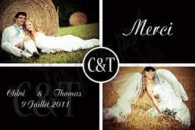 remerciement mariage photo cartes de remerciement mariage retro et romantique