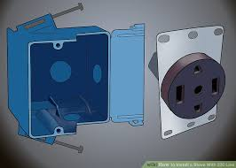 how to install a stove with 220 line with pictures wikihow