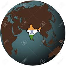 Mexico On Map India Flag On Map Of Earth Globe Stock Photo Picture And Royalty