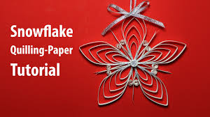 paper quilling snowflake decorations for x mas tutorial youtube