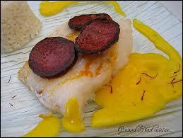 cuisiner un filet de julienne filets de julienne au chorizo sauce safranée la cuisine des basques