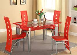 All Glass Dining Room Table Five Dining Set