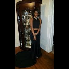 All Black Prom Dress 24 Off Dresses U0026 Skirts All Black Two Piece Prom Dress From