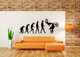 wall decals stickers home decor home furniture diy wall decor art vinyl sticker mural decal dirt bike evolution motorcycle sa693