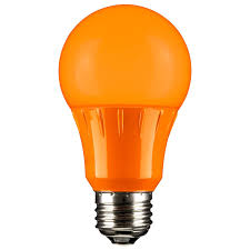 sunlite 80147 orange led a19 3 watt medium base 120