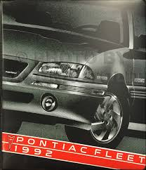 1992 pontiac trans sport van repair shop manual original