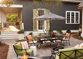 Simple Backyard Makeovers Backyard Patio Designs Living Room Withl Fire Pit Outdoor Cheap