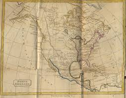America North And South Map by Map Of North America 1811 The History Of North And South America