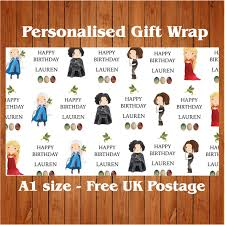 of thrones wrapping paper personalised of thrones inspired birthday wrapping paper 2