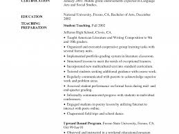 Assistant Preschool Teacher Resume Early Childhood Education Resume Samples Resume Samples And