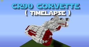 wars corellian corvette cr90 corvette timelapse as featured in minecraft wars