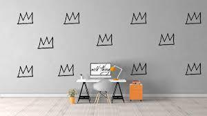 Home Decor Wall Basquiat Crown Wall Decal Basquiat Art Home Decor Wall