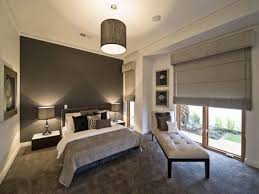 master bedroom decorating ideas gray dark brown lacquer finish oak