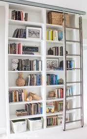 Ikea Billy Bookcase Door Billy Bookcase Hack With Library Ladder Billy Bookcase Hack