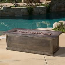 Propane Outdoor Firepit Home Loft Concepts Capistrano Wood Propane Pit Table