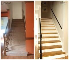 carpet to wood stair makeover reveal simply swider