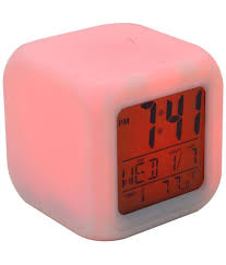 bazaar pirates multicolor cube led 7 color changing digital alarm