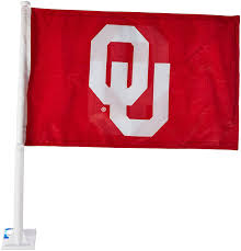 Flag Of Oklahoma Amazon Com Ncaa Oklahoma Sooners Car Flag Ou Logo With Free Wall