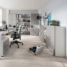 Schreibtisch Grau G Stig Schreibtisch Berlin 150 Cm Beton Weiß Matt Büromöbel Günstig Kurze