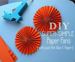 paper fans diy diy simple paper fans posh tart