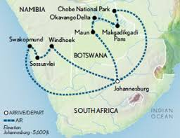 africa map kalahari namibia botswana dunes delta the kalahari