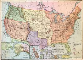 Western United States Map Westward Expansion Map