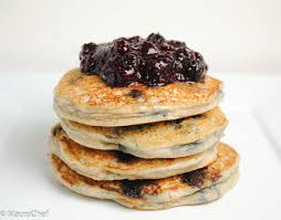 Blueberry Pancake Recipe Blueberry Chia Protein Pancakes Macrochef