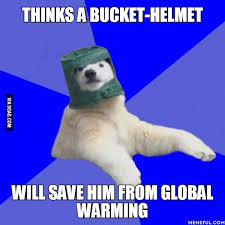 Global Warming Meme - global warming poorly prepared polar bear know your meme