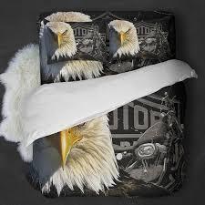 Harley Davidson Comforter Set Queen Eagle Harley Davidson Motorcycle Bedding Set U2013 Block Of Gear